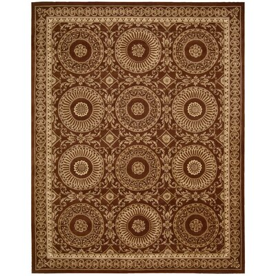 Brownlee Hand-Tufted Brick Area Rug Rug Size: Rectangle 36 x 56