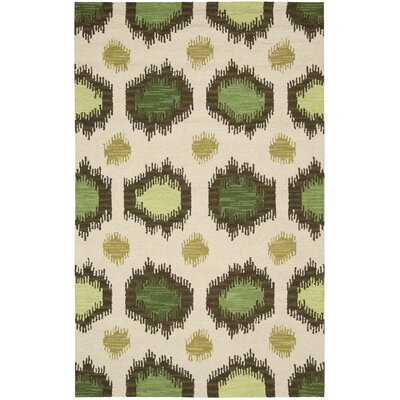 Pine Brook Beige/Green Area Rug Rug Size: Rectangle 8 x 106