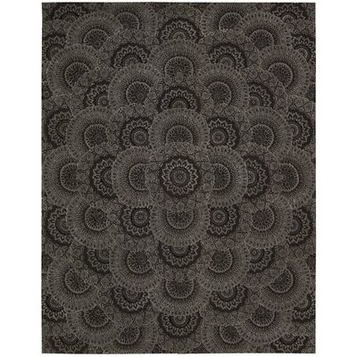 2000 Hand Woven Wool Black/Gray Indoor Area Rug Rug Size: 79 x 99
