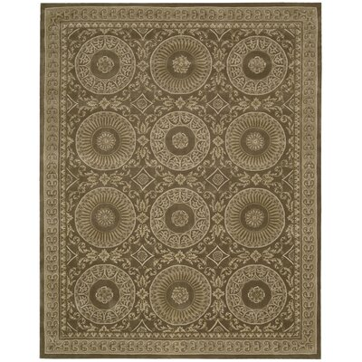 Versailles Palace Hand-Tufted Mocha Area Rug Rug Size: 96 x 136
