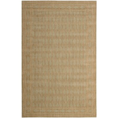 Lourdes Brown Area Rug Rug Size: 53 x 83