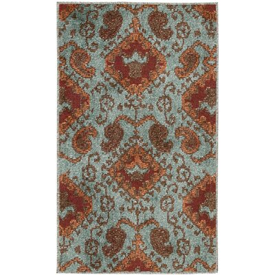 Duarte Aqua Indoor/Outdoor Area Rug Rug Size: Rectangle 23 x 39