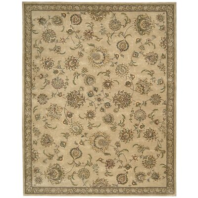 2000 Hand-Tufted Brown/Tan Area Rug Rug Size: 39 x 59