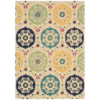 Aberdeenshire Hand-Tufted Ivory Area Rug Rug Size: Rectangle 39 x 59