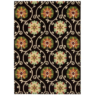 Aberdeenshire Black/Green Area Rug Rug Size: Rectangle 53 x 75