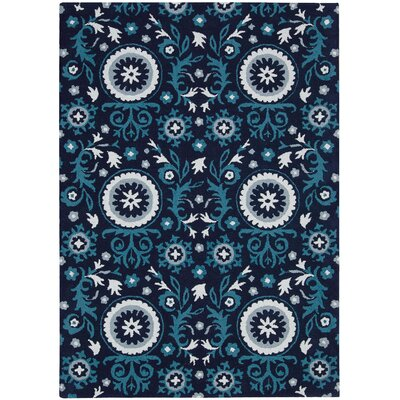 Suzani Blue Outdoor Area Rug Rug Size: 53 x 75