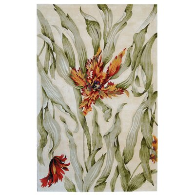 Newbury White Area Rug Rug Size: Rectangle 53 x 83