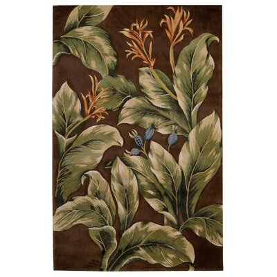 Tropics Brown/Tan Area Rug Rug Size: 53 x 83
