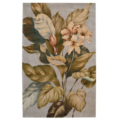 Tropics Brown/Tan Rug Rug Size: 8 x 11