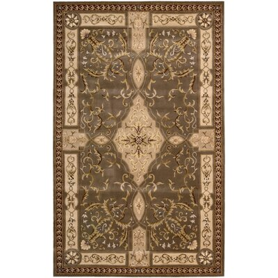 Brownlee Oriental Brown/Tan Area Rug Rug Size: Rectangle 53 x 83