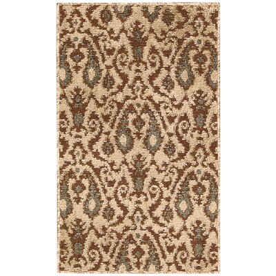 Kindred Ivory/Brown Area Rug Rug Size: 23 x 39