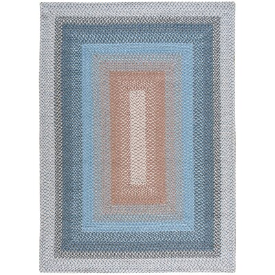 Dray Hand-Woven Blue Area Rug Rug Size: Oval Runner 23 x 7
