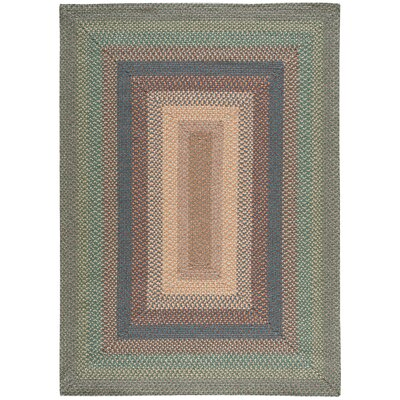 Dray Hand-Woven Spruce Area Rug Rug Size: Oval 5 x 7