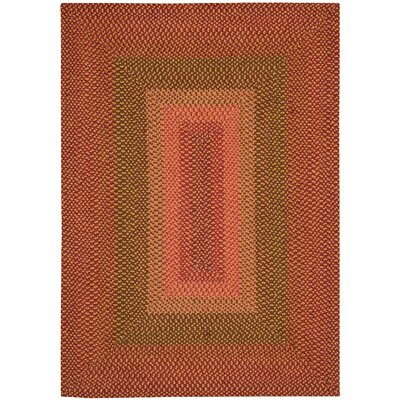 Dray Hand-Woven Orange Area Rug Rug Size: Oval Runner 23 x 7