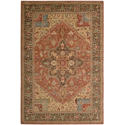 Living Treasures Rust Area Rug Rug Size: 83 x 113
