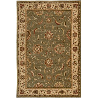 Living Treasures Green Area Rug Rug Size: 83 x 113