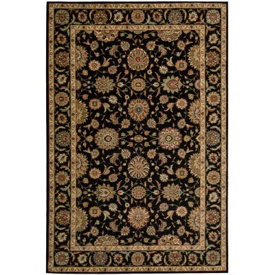 Living Treasures Black Area Rug Rug Size: 5'6