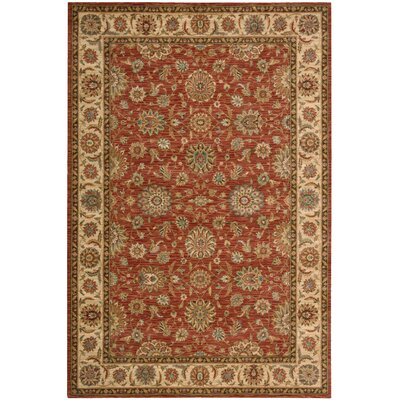 Living Treasures Rust Area Rug Rug Size: 36 x 56
