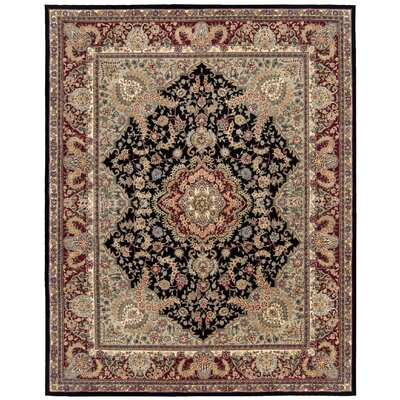 2000 Hand-Tufted Black/Brown Area Rug Rug Size: 26 x 43