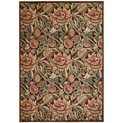 Burnham Brown Oriental Area Rug Rug Size: 36 x 56