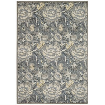 Burnham Gray Area Rug Rug Size: Rectangle 23 x 39