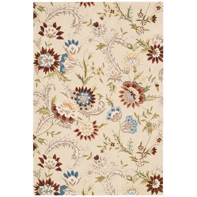 Gatsby Hand-Tufted Beige Area Rug Rug Size: 39 x 59