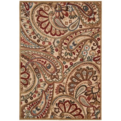 Francisca Brown/Red Area Rug Rug Size: 53 x 75