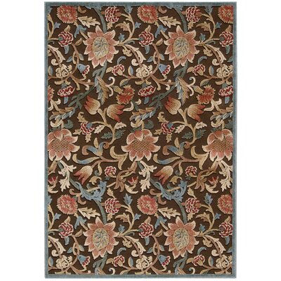 Hettie Brown Area Rug Rug Size: Rectangle 53 x 75