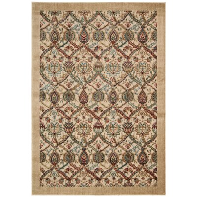 Illusions Beige Area Rug Rug Size: Runner 23 x 8