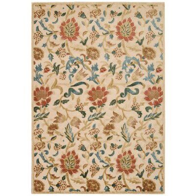 Burnham Beige Area Rug Rug Size: Rectangle 53 x 75
