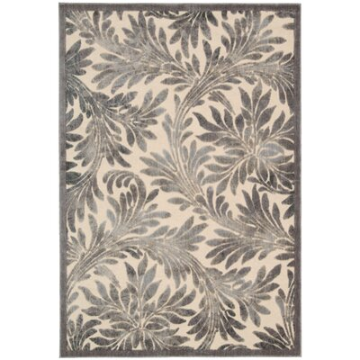 Burnham Ivory Area Rug Rug Size: Rectangle 53 x 75
