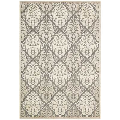 Talanna White Geometric Area Rug Rug Size: Rectangle 53 x 75