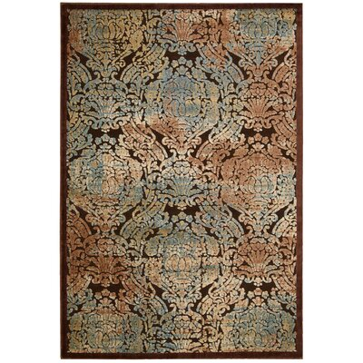 Illusions Brown/Beige Area Rug Rug Size: 53 x 75