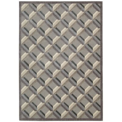 Graphic Illusions Black/Gray Geometric Area Rug Rug Size: 79 x 1010