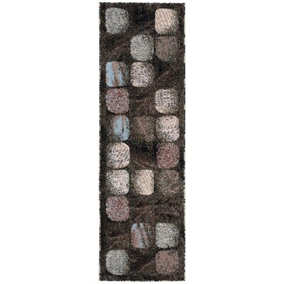 Duke Black/Brown Area Rug Rug Size: 710 x 106