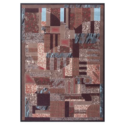 Modesto Brown Area Rug Rug Size: 710 x 106