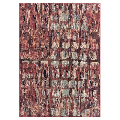 Placid Lakes Red Area Rug Rug Size: Rectangle 53 x 73