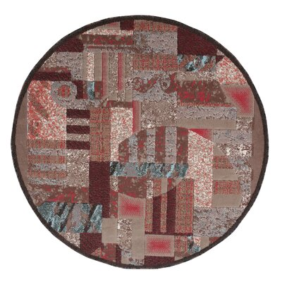 Athan Brown Area Rug Rug Size: Round 53