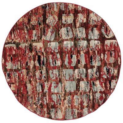 Modesto Red Area Rug Rug Size: Round 53