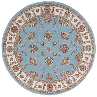 Shalyce Blue Area Rug Rug Size: Round 53