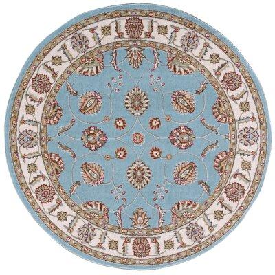Shalyce Blue Area Rug Rug Size: Round 53