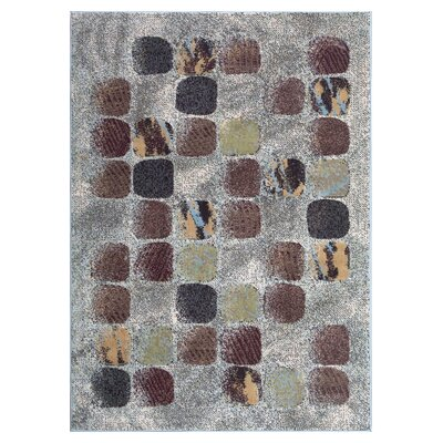 Powderhorn Gray/Brown Area Rug Rug Size: Round 710