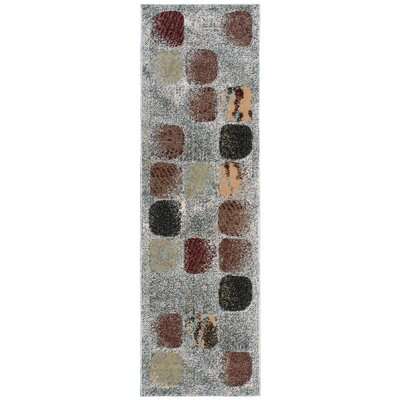 Modesto Gray/Brown Area Rug Rug Size: Runner 22 x 73