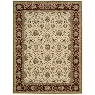 Persian Crown Cream/Brown Area Rug Rug Size: 710 x 106