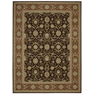 Persian Crown Dark Brown Area Rug Rug Size: 93 x 129