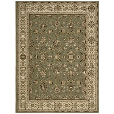 Persian Crown Green/Brown Area Rug Rug Size: 53 x 74
