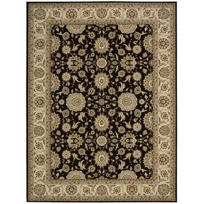 Persian Crown Black/Brown Area Rug Rug Size: 710 x 106