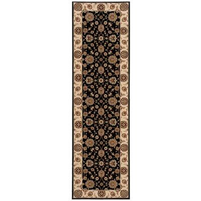 Persian Crown Black/Brown Area Rug Rug Size: Runner 22 x 76