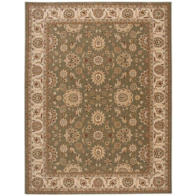 Persian Crown Green/Brown Area Rug Rug Size: 710 x 106