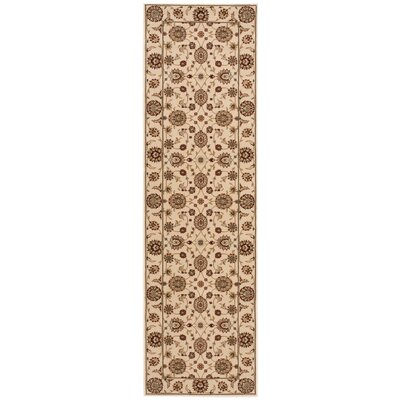 Persian Crown Ivory/Brown Area Rug Rug Size: Runner 22 x 76